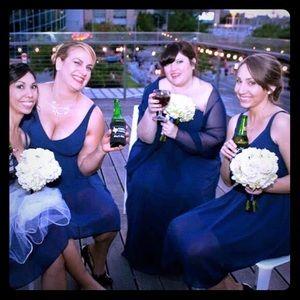 Gorgeous Cocktail Wedding Bridesmaid Dress Navy👗